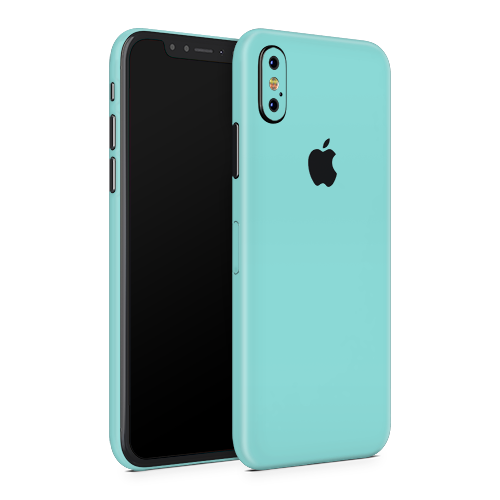iPhone XS Skin - Mint Matt