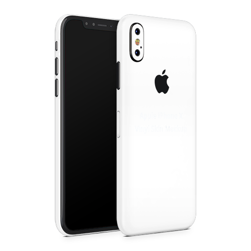 iPhone XS Skin - White Matt
