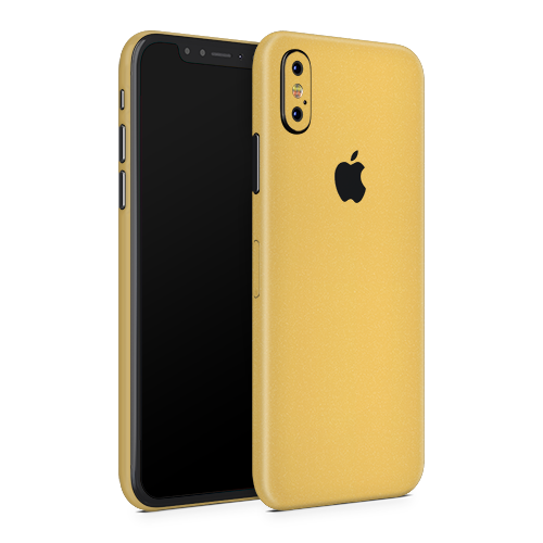 iPhone XS Skin - Brushed Gold