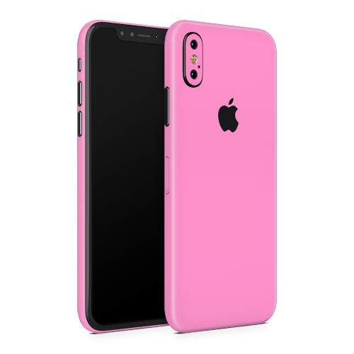 iPhone X Skin - Pink Bubblegum Satin