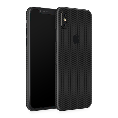 iPhone XS Skin - Black Honeycomb