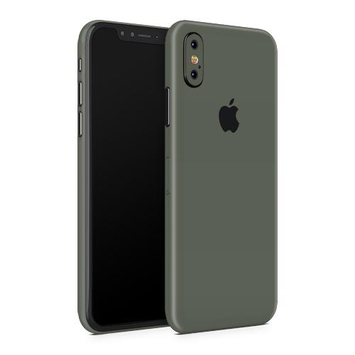 iPhone XS Skin - Army Olive Matt