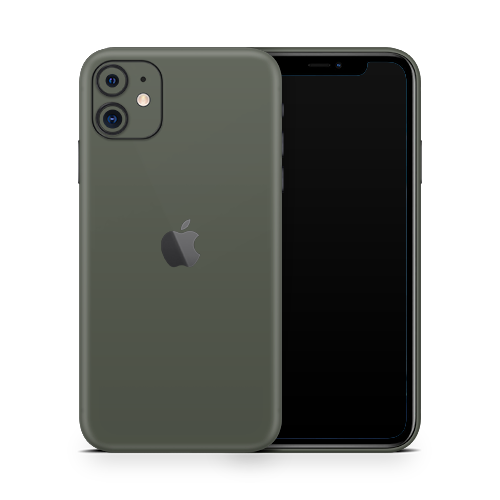 iPhone 11 Skin - Army Olive Matt