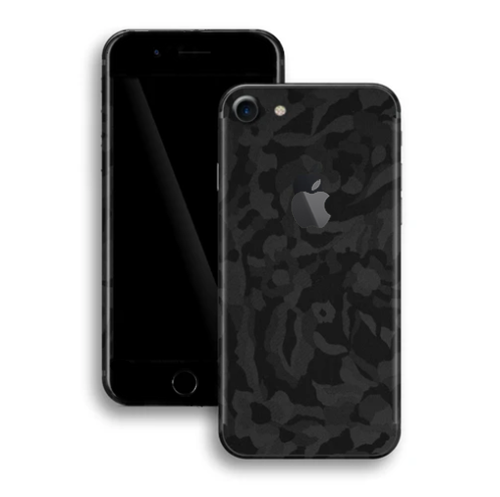 iPhone 6 Plus Skin - Black Camouflage 3D