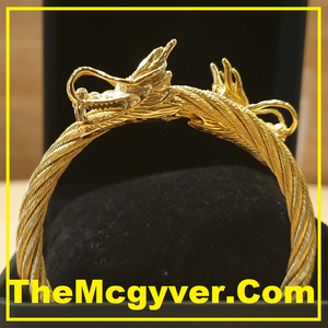 Twin Head Gold Dragon (Unisex)