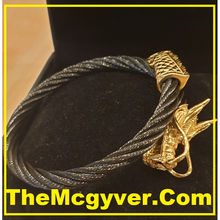 Load image into Gallery viewer, Single Head Black/Gold Dragon (Unisex)