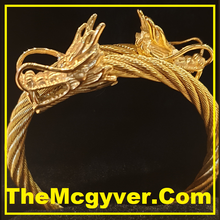 Load image into Gallery viewer, Twin Head Gold Dragon (Unisex)
