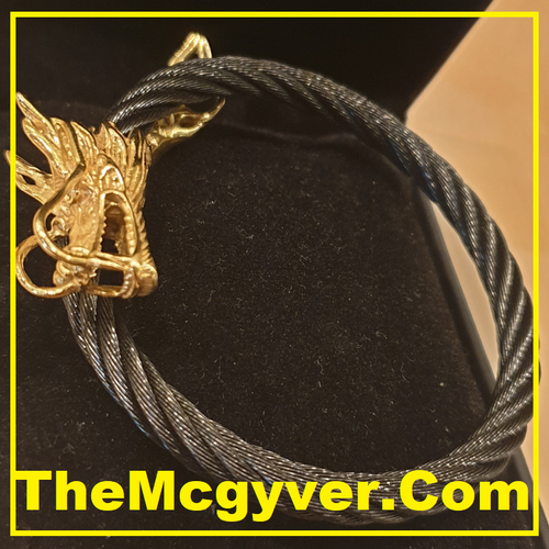 Single Head Black/Gold Dragon (Unisex)