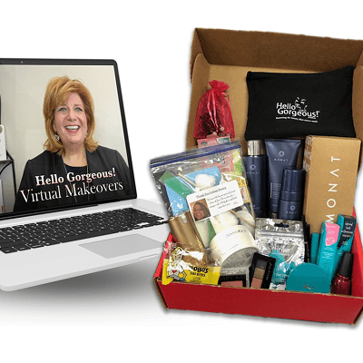 Hello Gorgeous virtual makeover and complimentary gift set