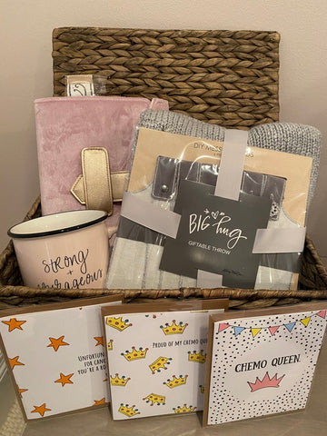 Liv & Let's Giv Baskets filled with items for women