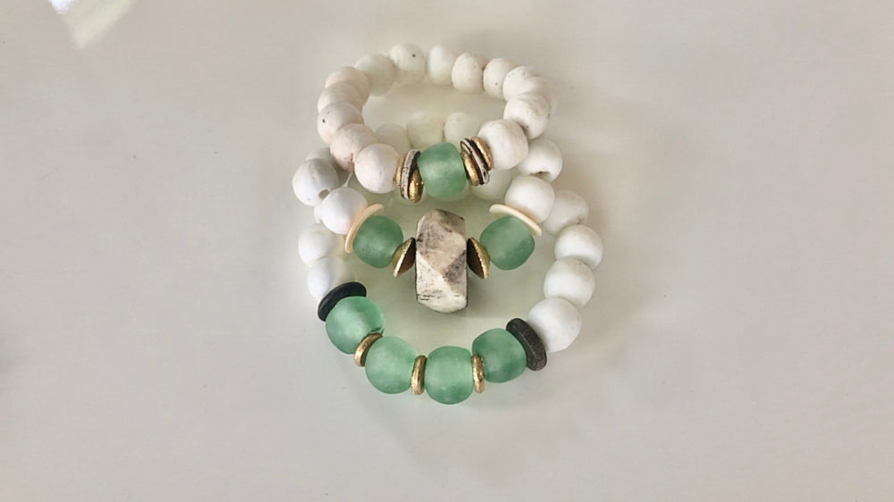 Sea Foam Green Stack Mykonos Collection