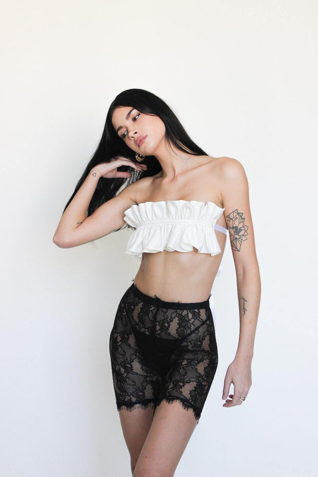sexy beverly hills lingerie black silk strapless classy luxury glamourous lingerie trendy fashion kendall jenner hailey bieber lace black white top luxury chic brand