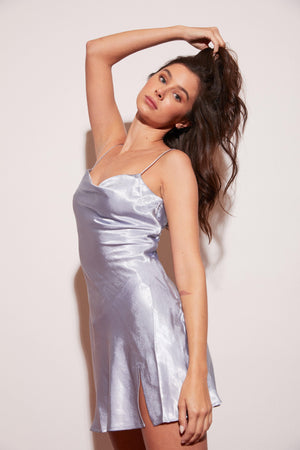 A staple in every girl's closet. If you don't already have a satin slip dress, let this be your first - in both colors, of course. An ultra sexy cut and fit, draping perfectly on your body, built to enhance your curves and dress you both up or down. Side zip feature.