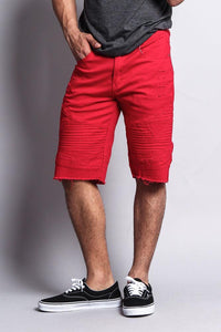 Cotton: Mens: Shorts 97%: Distressed Biker Style.