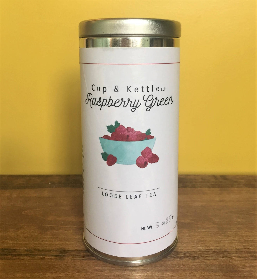 Organics: Tea: Raspberry Green: 3 oz Tin.