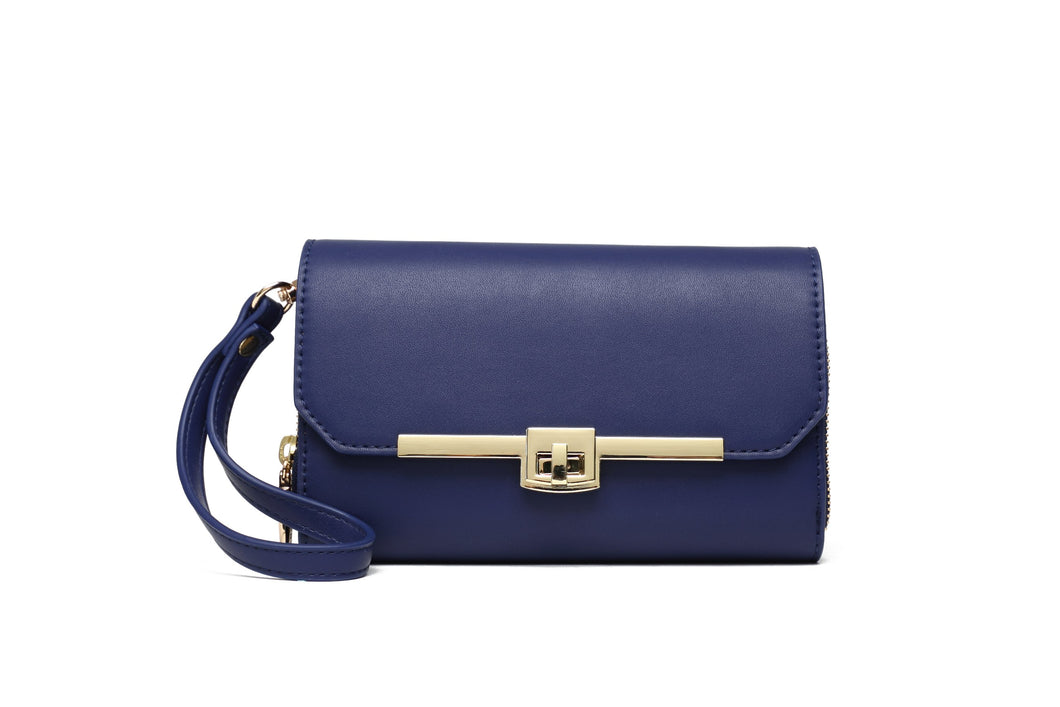 Sustainables: Vegan: Clutch: Petite Patty-Navy.
