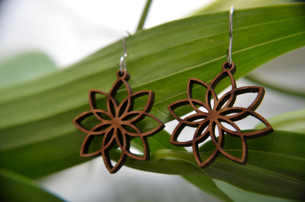 Jewelry: Lotus Flower Earrings.