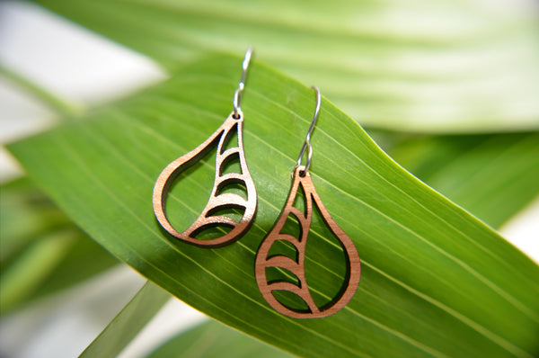 Jewelry: Vine Earrings in cherry.