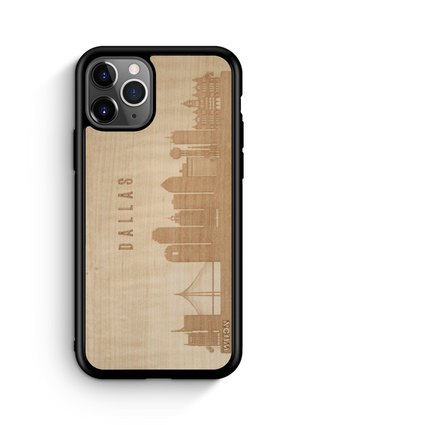 Naturals: CityScape Wooden Phone Case | Dallas TX