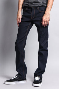 Cotton: Mens: Jeans 90%: Slim Fit Raw Denim(Indigo/Timber).