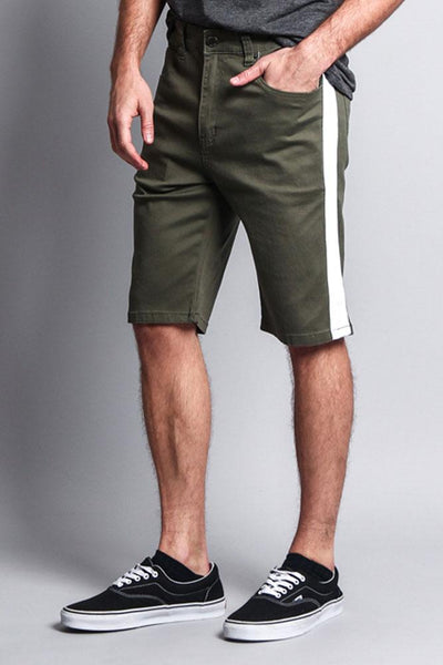 Cotton: Mens: Shorts 97%: with Accent Band.