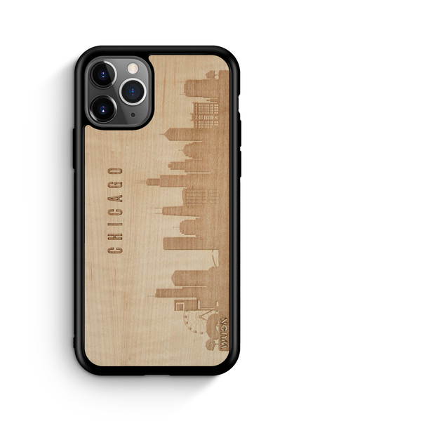 Naturals: CityScape Wooden Phone Case | Chicago IL