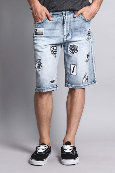 Cotton: Mens: Shorts 97%: Patch Denim.