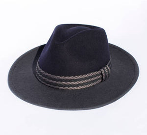 Wool: Lake County Ranch: Blue & Gray Retro Style Felt Hat