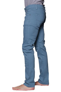 Cotton: Mens: Jeans 97%: Skinny Fit Colored(French Blue).