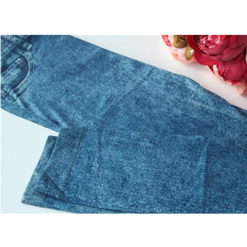 Stylish Lady Solid Jeans Pant