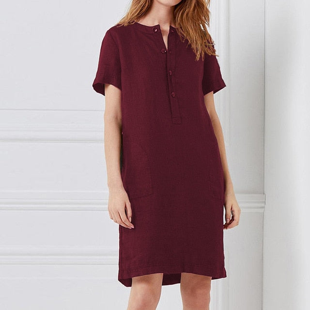 Shirt Dress Kaftan Short Sleeve