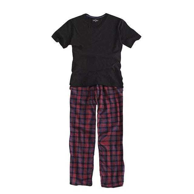 Cotton pajamas Men Casual Sleepwear