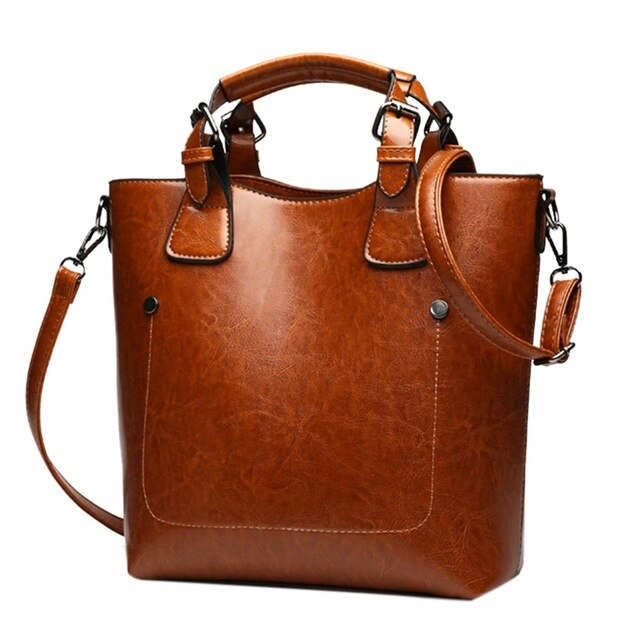 OIL WAX WOMEN'S LEATHER HANDBAGS