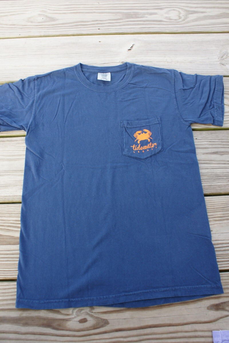 Navy and Orange Short Sleeve