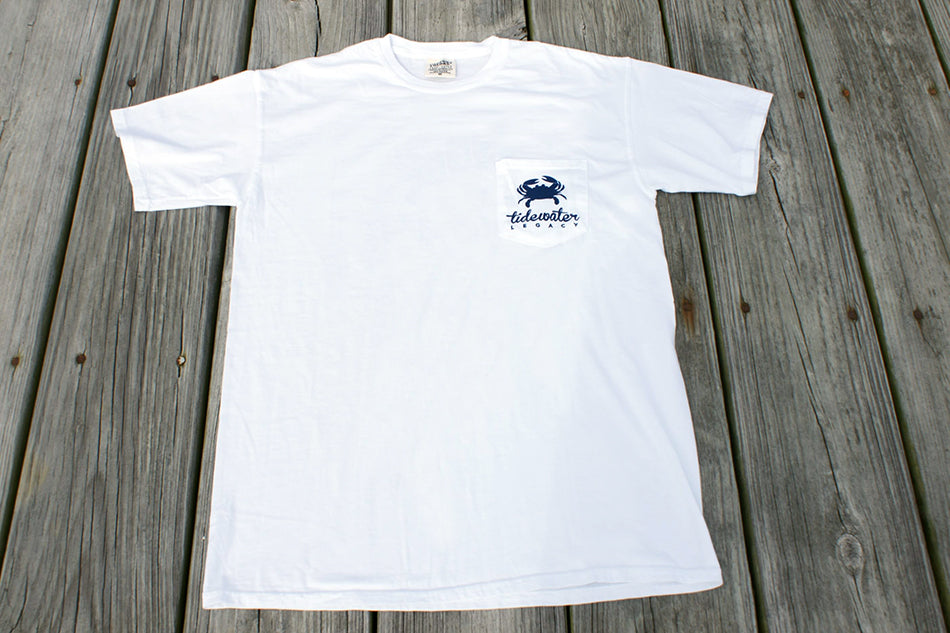 White and Navy Short Sleeve