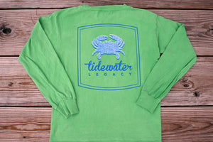 Seersucker Crab Long Sleeve