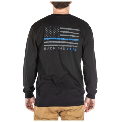 THIN BLUE LINE LONG SLEEVE TEE - 5.11 Tactical Finland Store