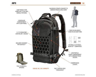 AMP10™ BACKPACK 20L - 5.11 Tactical Finland Store