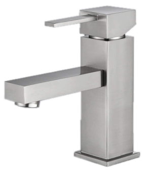 Bathroom Faucet B108 Single Handle Lavatory Faucet(Brushed Nickel) - agmtools