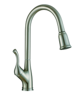 Kitchen Faucet K110 Single Handle Pull-down Kitchen Faucet(Brushed Nickel) - agmtools