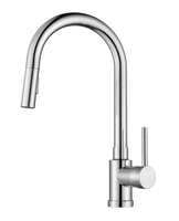 Kitchen Faucet K1120 Single Handle Pull-down Kitchen Faucet(Brushed Nickel) - agmtools