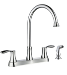 Kitchen Faucet K8238 Two Handle Kitchen Faucet with Side Sprayer(Brushed Nickel)  - agmtools