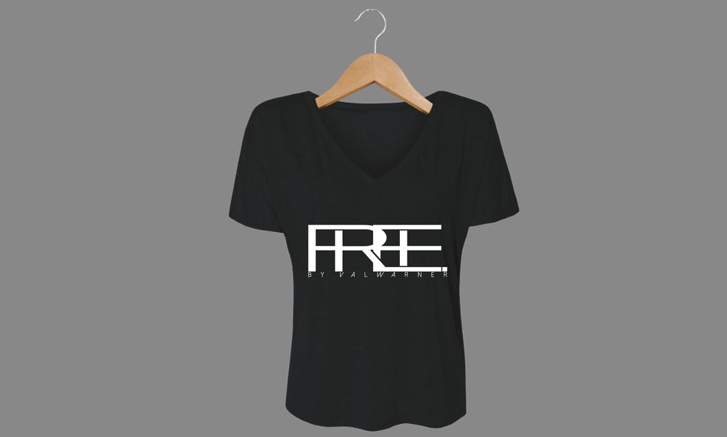 Free Block V-Neck (Blk)
