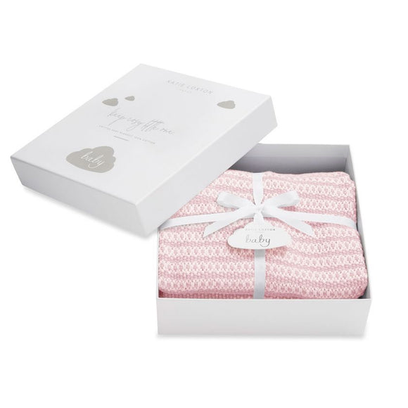 Katie Loxton - Cotton Knitted Blanket