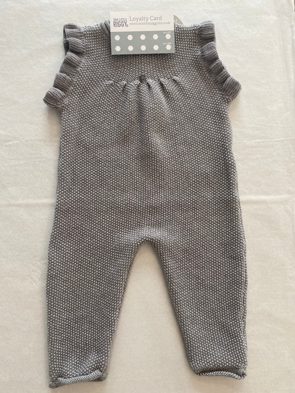 Wedoble - Grey knit dungaree