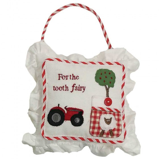 Powell Craft - Tractor Tooth Fairy Cushion