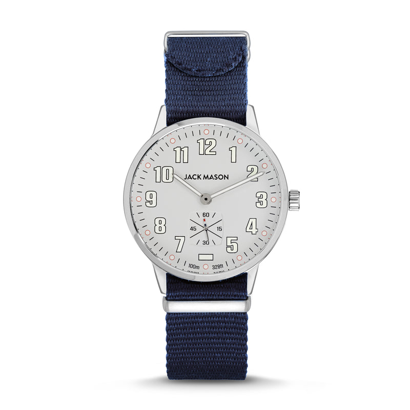 The 38mm Field Watch with Blue Nylon Watch Strap