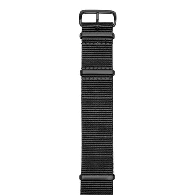 22mm Black Nato Nylon Watch Strap by Jack Mason