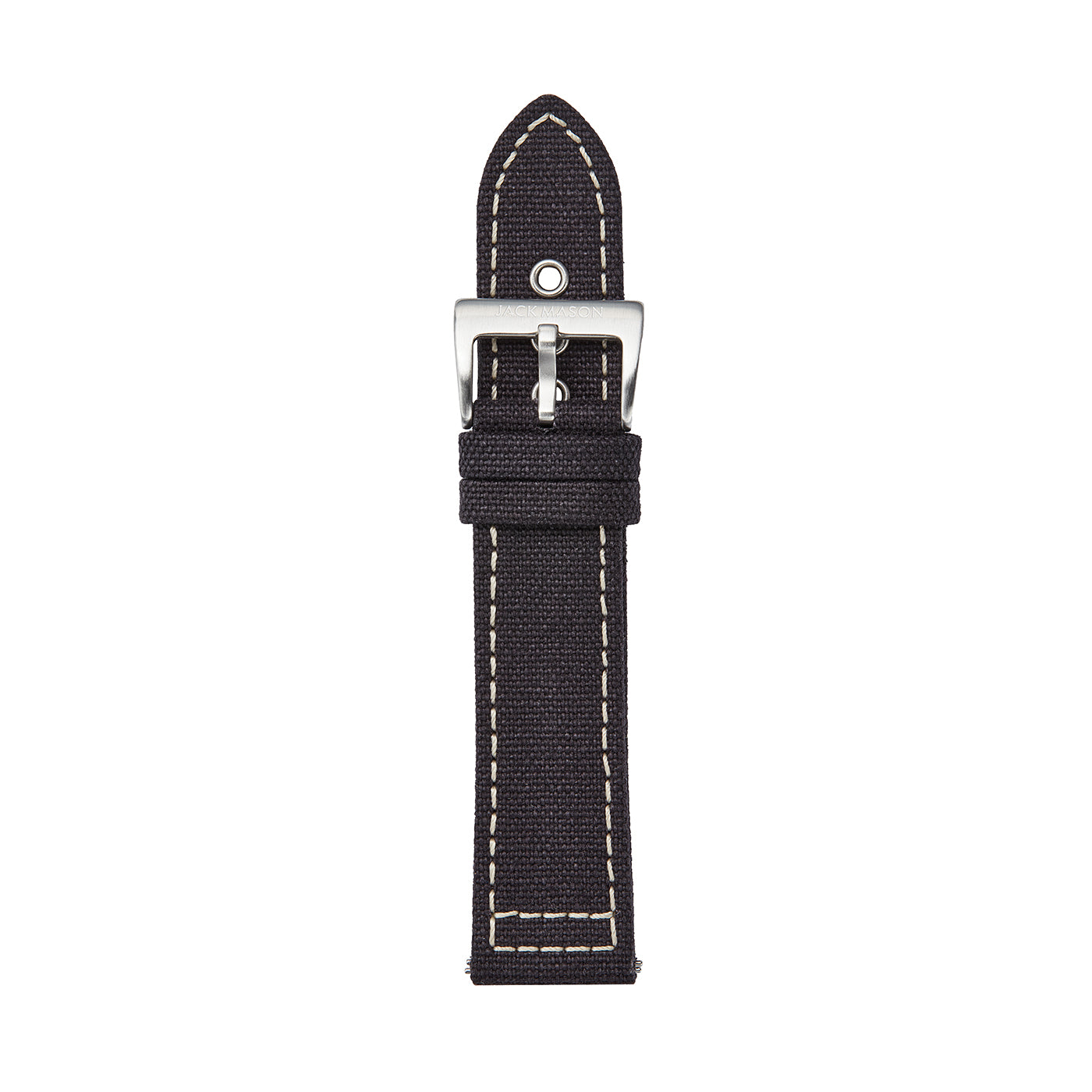 black canvas 22mm watch strap
