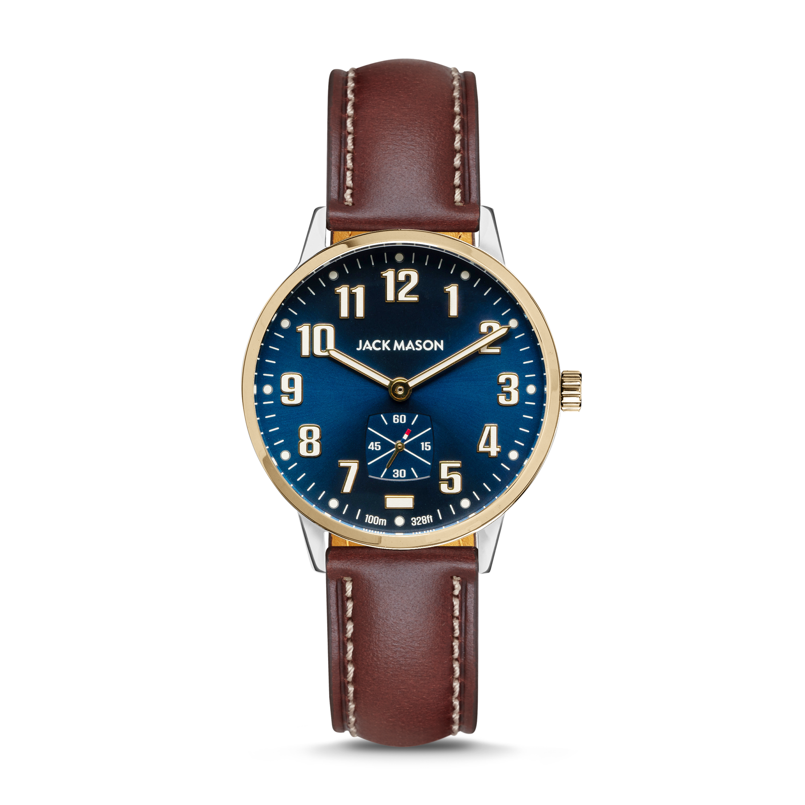 38mm Field Watch in Navy Blue and Yellow Gold